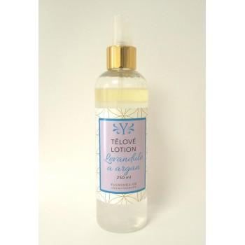 Tělové vodoolejové lotion levandule s arganem, 220 ml