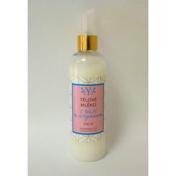Tělové mléko růže s arganem , 220 ml