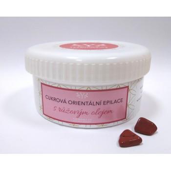 Cukrová epilace s růžovým olejem, 250 g