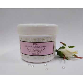 Růžový jíl - pleťová maska 300 g
