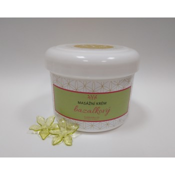 Bazalkový masážní krém /pleťová maska/, 300 g
