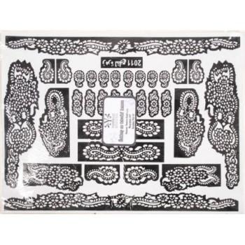 Šablona na hennu - velký typ
