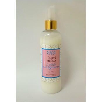 Rose body lotion with argan...