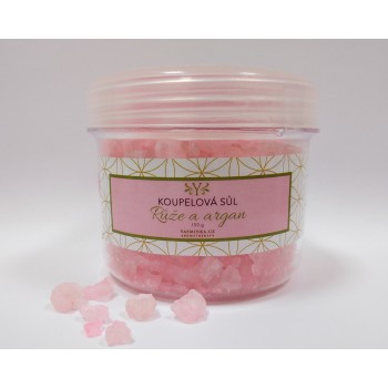 Rose bath salt with argan,150g